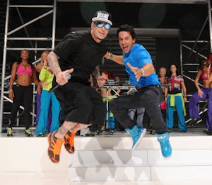 Vanilla Ice with creator of Zumba Beto Perez