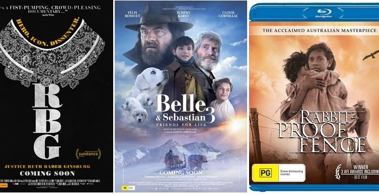 WIN: 3 Movie Pack – RBG, Belle and Sebastian 3, Rabbit Proof Fence